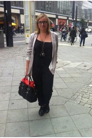 H&M blazer - Prada bag - H&M bodysuit