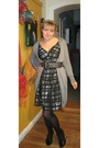 Gray-zara-dress-gray-zara-cardigan-black-zara-belt