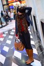 Brown-united-colors-of-benetton-boots-navy-zara-jacket