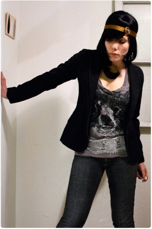 Marc by Marc Jacobs blazer - coma & cotton shirt - Levis Silver Tab jeans
