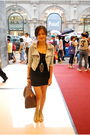 Black-h-m-dress-blue-random-from-hong-kong-jacket-beige-shoes-brown-louis-
