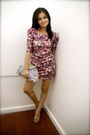 Purple-pink-manila-dress-purple-aranaz-purse-brown-zara-shoes
