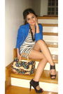 Blue-hk-blazer-white-h-m-dress-black-h-m-shoes-black-louis-vuitton-accesso