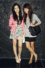 Pink-random-from-hong-kong-dress-pink-esprit-blazer-beige-h-m-shoes-white-