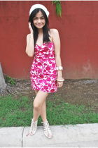 white Rockwell Bazaar shoes - pink floral Forever 21 dress
