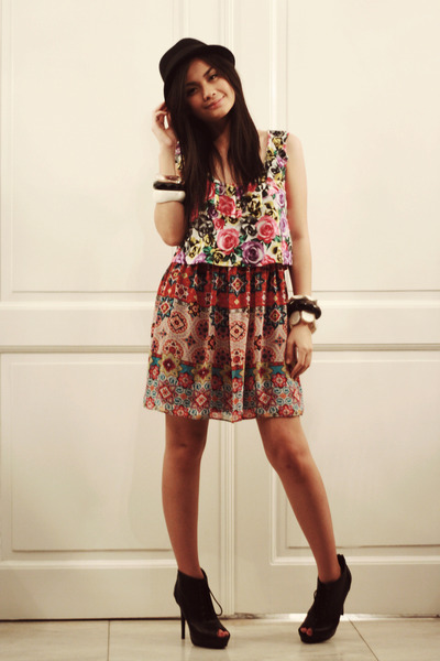 pink Pink Manila blouse - pink Ross dress - black Erika Reyes awesome closet acc