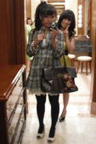 Zara dress - Zara dress - tights - shoes - bracelet - Mulberry accessories