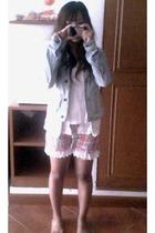 hollister jacket - pooh jacket - top - shorts
