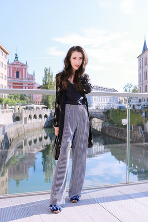 black Michael Kors pants - black camisole Dolce & Gabbana top
