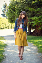 Forever 21 skirt - H&M jacket - Gap belt - H&M sandals