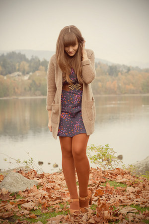 H&M cardigan - Jeffrey Campbell shoes - asos dress - asos tights