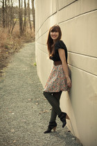 Joe Fresh tights - modcloth skirt - H&M heels
