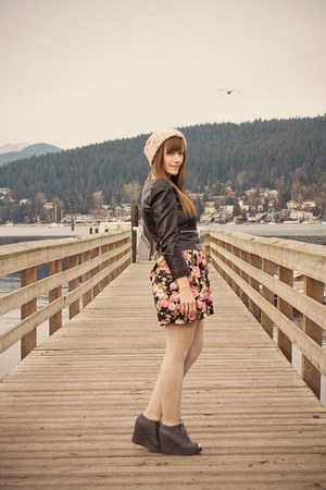Jeffrey Campbell shoes - modcloth dress - H&M jacket - H&M tights