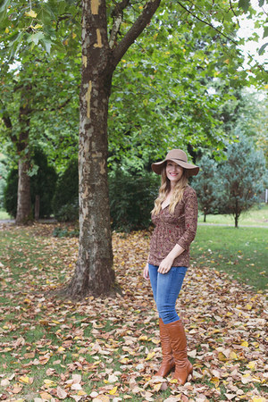 Aldo Shoes boots - American Eagle jeans - Forever 21 hat - thrifted top