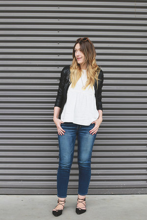 Zara top - H&M shoes - American Eagle jeans - Forever 21 jacket