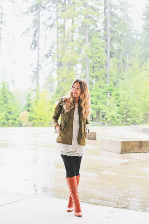 Aldo boots - H&M dress - Forever 21 jacket