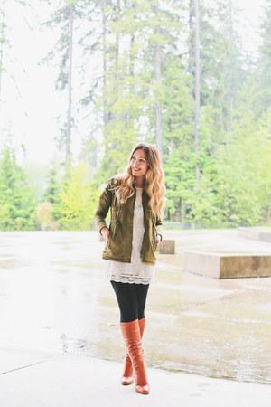 Aldo boots - H&M dress - Forever 21 jacket