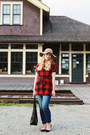American-eagle-jeans-forever-21-hat-modcloth-top-zara-flats