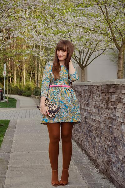 H&M dress - asos tights - Jeffrey Campbell wedges