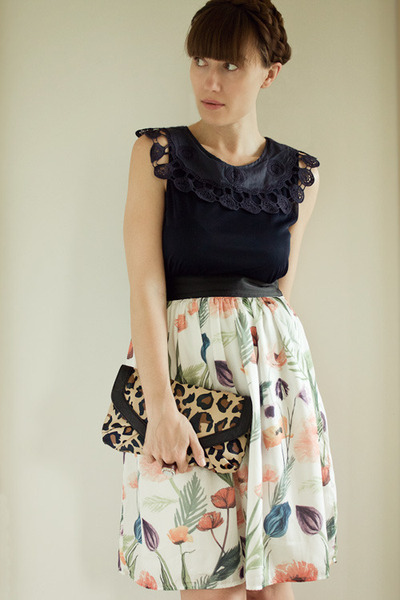 H&M skirt - Aldo purse - modcloth top