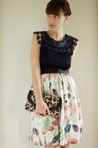 H&M skirt - Aldo purse - modcloth top