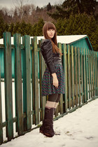 Blowfish Shoes boots - H&M dress - H&M jacket