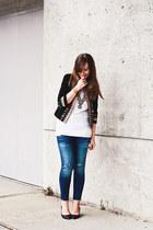 Total Betty Society necklace - Aldo shoes - Zara jeans - XO Veronika jacket