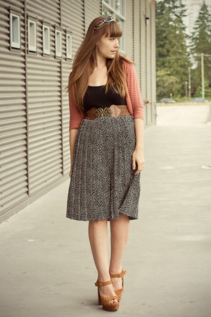 Jeffrey Campbell shoes - modcloth belt - H&amp;M cardigan