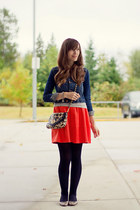 H&M skirt - H&M jacket - modcloth tights - Aldo bag