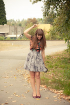 modcloth skirt - Joe Fresh shoes - H&M top