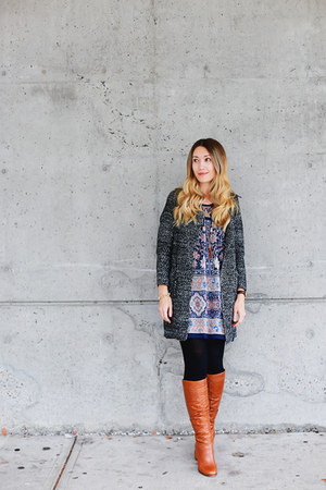 Sheinside cardigan - Aldo shoes - Shop Ruche dress