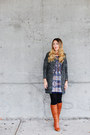 Aldo-shoes-shop-ruche-dress-sheinside-cardigan