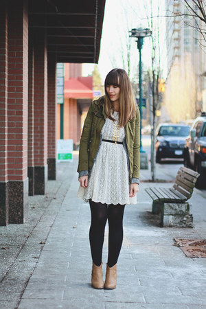 Forever 21 dress - Old Navy shoes - Forever 21 jacket - Stella & Dot necklace