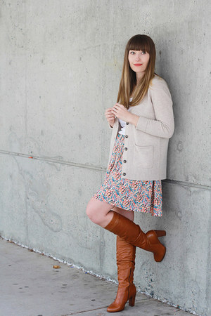 modcloth skirt - Aldo boots - madewell sweater