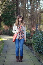 Forever 21 top - Joe Fresh shoes - Zara jeans - madewell sweater