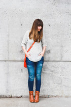 for elyse blouse - Aldo boots - Zara jeans
