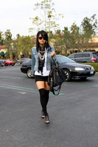 black Marc by Marc Jacobs bag - blue Forever 21 jacket - black Zara shorts
