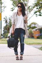 blue Marc by Marc Jacobs jeans - tan H&M jacket - black emile Alexander Wang bag