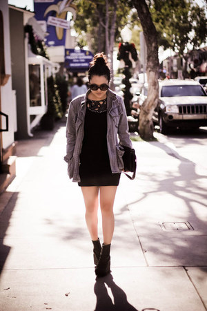 bodycon AX PARIS USA dress - Jeffrey Campbell boots - Urban Outfitters jacket