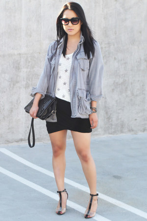 eggshell Vintage Havana top - charcoal gray Urban Outfitters jacket
