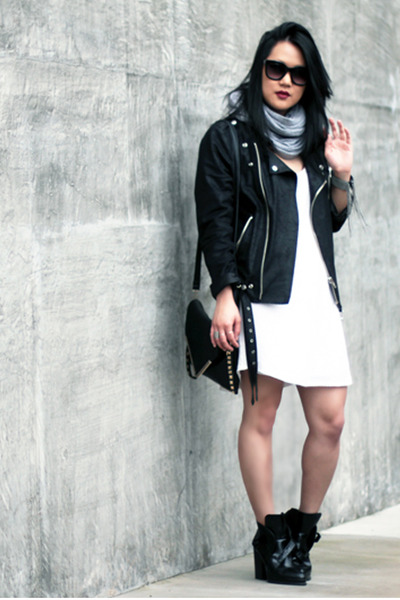 black MINUSEY jacket - black Zara boots