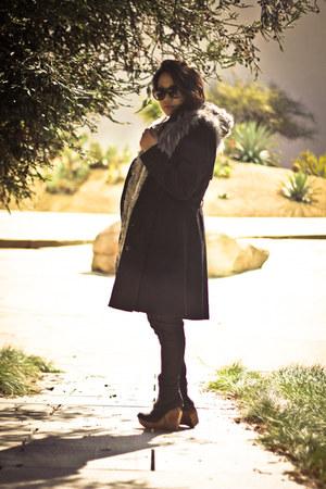 silver fur vest - black brisbane Jeffrey Campbell boots