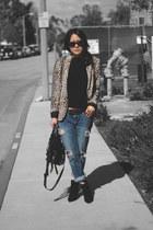 Zara blazer - Zara boots - Marc by Marc Jacobs jeans - Zara sweater