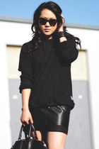 black Hurley sweater - black emile tote Alexander Wang bag