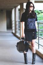 Giuseppe Zanotti boots - Alexander Wang bag - Zara skirt - H&M top