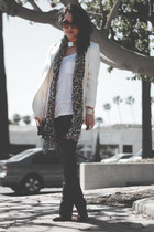 white H&M blazer - black Giuseppe Zanotti boots