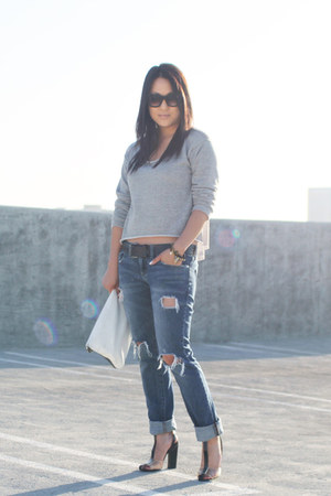 Vintage Havana sweater - Alexander Wang shoes - Marc by Marc Jacobs jeans