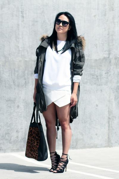 Zara sweater - Schutz shoes - asos jacket - Zara skirt