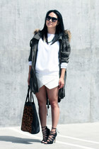 Zara sweater - Schutz shoes - asos jacket - Zara skirt