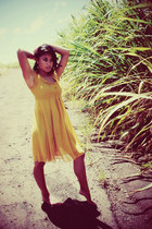 mustard Billie J dress
